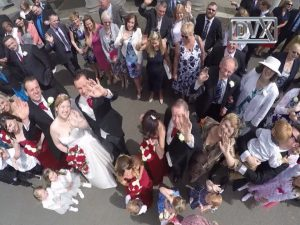 Wedding drone aerial filming